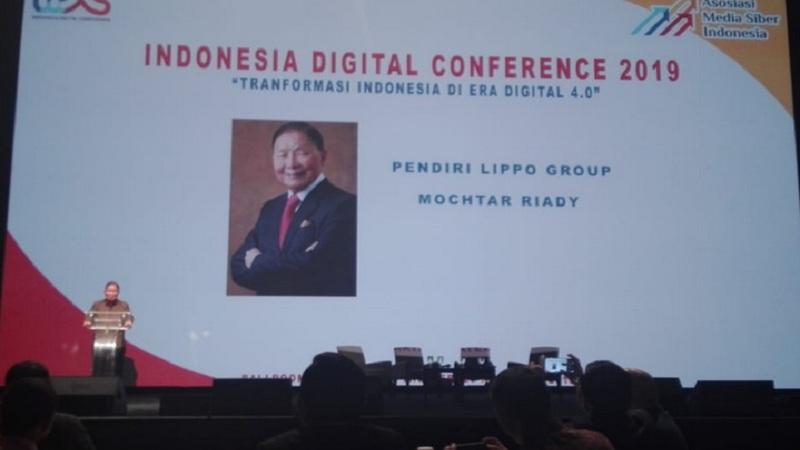Pendiri sekaligus pemilik Lippo Group Mochtar Riady di acara Indonesia Digital Conference 2019 di Jakarta, Kamis (28/11/2019). JIBI/Bisnis - Rahmad Fauzan
