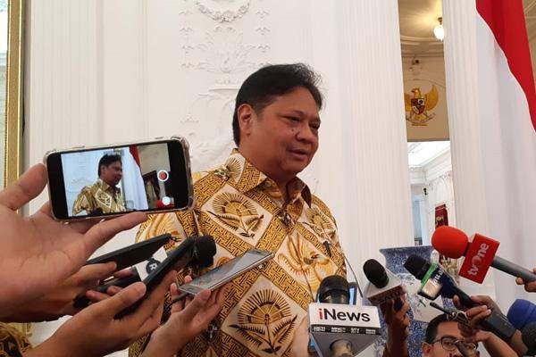 Menteri Koordinator bidang Perekonomian Airlangga Hartarto. - Bisnis/ Amanda Kusumawardhani
