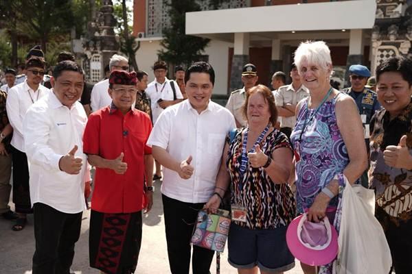 Erick Thohir (tengah) menegaskanPelabuhan Benoa harus menjadi kawasan turis terpadu kelas dunia. - Istimewa