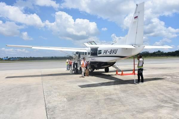 Pesawat perintis Susi Air melakukan penerbangan perdana di Kaltara - Bisnis.com/Eldwin Sangga
