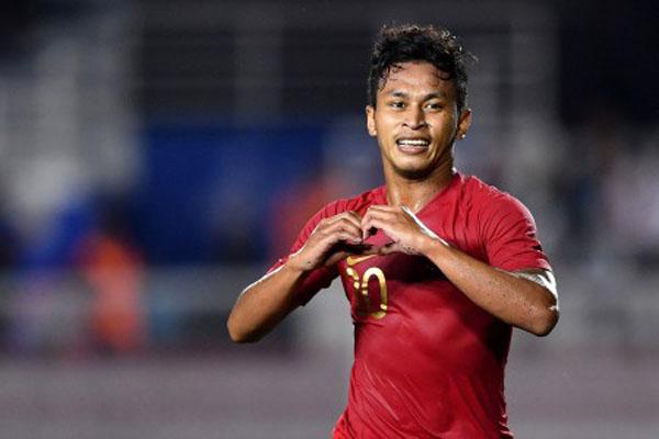 Pemain Timnas Indonesia Osvaldo Haay. - Antara/Sigid Kurniawan