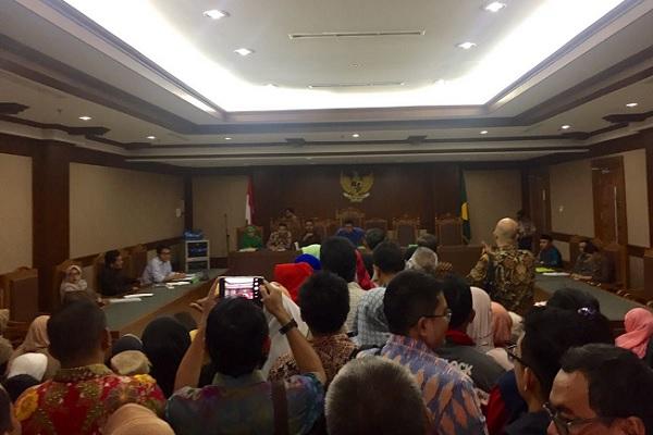 Suasana rapat kreditur PT First Travel dengan agenda verifikasi utang di Pengadilan Niaga Jakarta Pusat - Deliana Pradhita sari