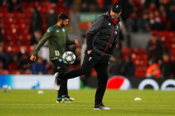 Pelatih Liverpool Jurgen Klopp. - Reuters/Phil Noble