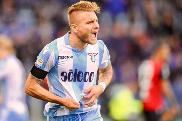 Penyerang Lazio Ciro Immobile - Twitter@SSLazio
