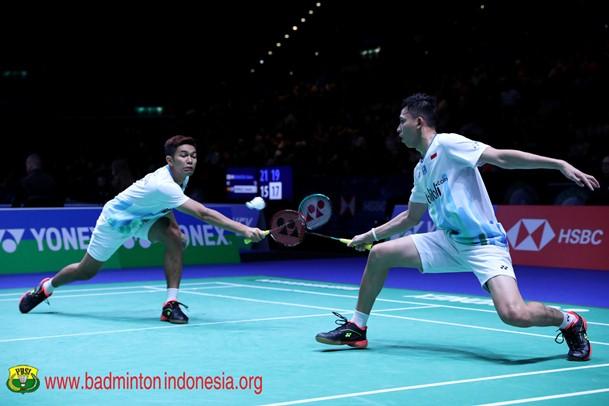 Ganda putra Indonesia, Fajar Alfian-Rian Ardianto - Badminton Indonesia