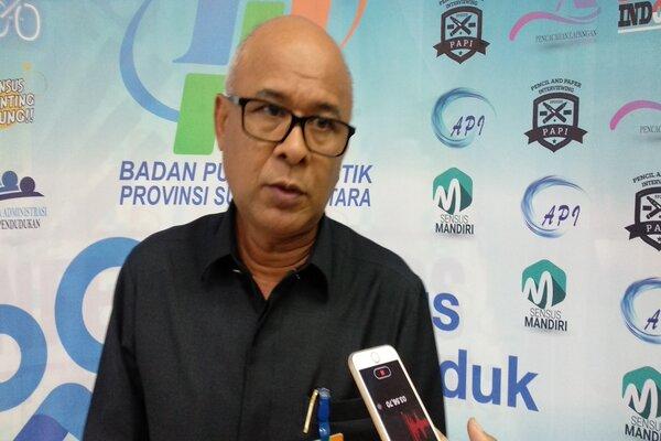 Kepala BPS Sumut Syech Suhaimi.