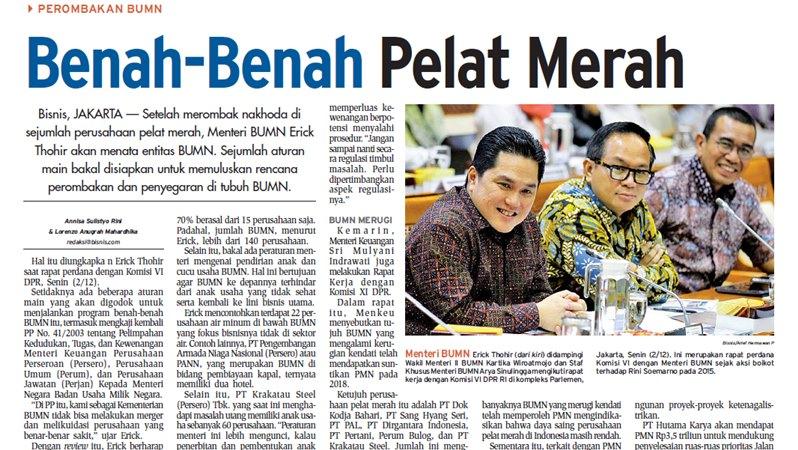 HL Bisnis Indonesia 3 Desember 2019