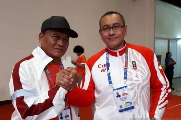 Chef de Mission (CdM) Indonesia untuk SEA Games 2019, Harry Warganegara (kanan) - Antara