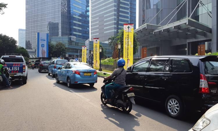 Suasana di lokasi Munas Golkar, Kuningan, Jakarta Selatan