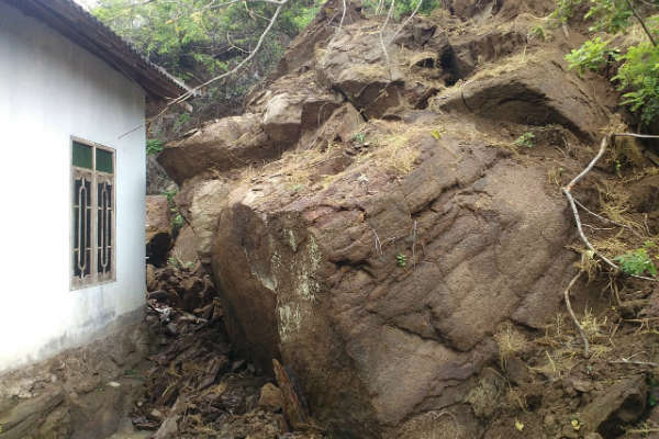 Tanah longsor di Kecamatan Gedangsari, Gunungkidul, akhir 2018 lalu - Ist/Dok BPBD Gunungkidul