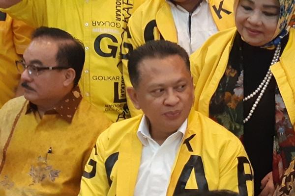 Bambang Soesatyo di kantor DPP Golkar Jakarta - Bisnis/Jaffry Prabu Prakoso