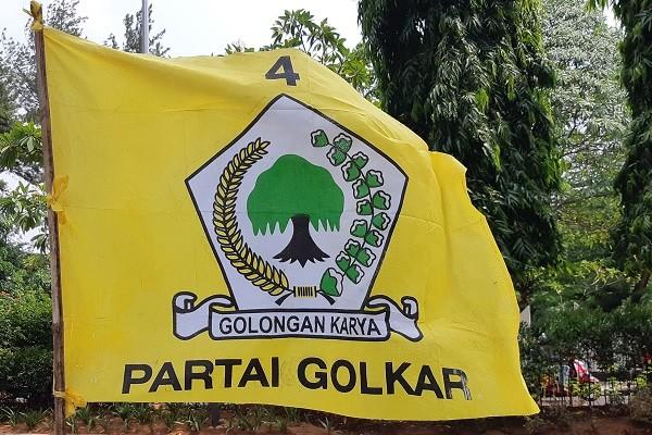 Bendera Partai Golkar. -Bisnis.com - Samdysara Saragih