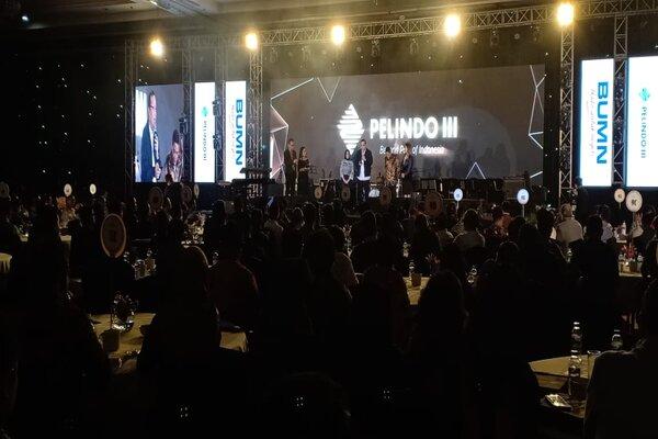 Suasana Malam Penganugerahan Pelanggan Pelindo III di Hotel Shangri-La Surabaya, Rabu (4/12/2019). - Bisnis/Peni Widarti