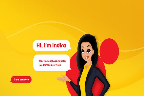 INDIRA, chat bot besutan Indosat Ooredoo