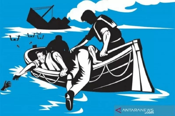 Ilustrasi : Kapal tenggelam. - Antara/Shutterstock/am