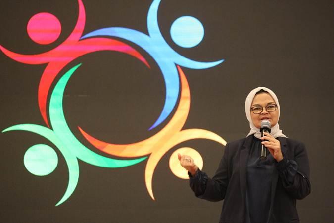 Kepala Badan Pengawas Obat dan Makanan (BPOM) Penny K Lukito memberikan penjelasan pada Dialog Kinerja 3 Tahun Badan POM di Jakarta, Senin (22/7/2019). - Bisnis/Dedi Gunawan