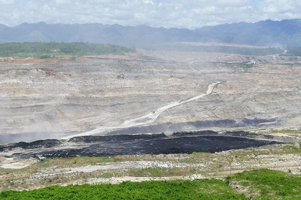 Salah satu lokasi pertambangan batu bara di Kalimantan Timur. - Bisnis/Rachmad Subiyanto