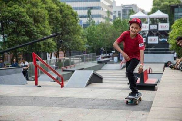 Atlet skateboard Indonesia Sanggoe Dharma Tanjung. - Twitter.com