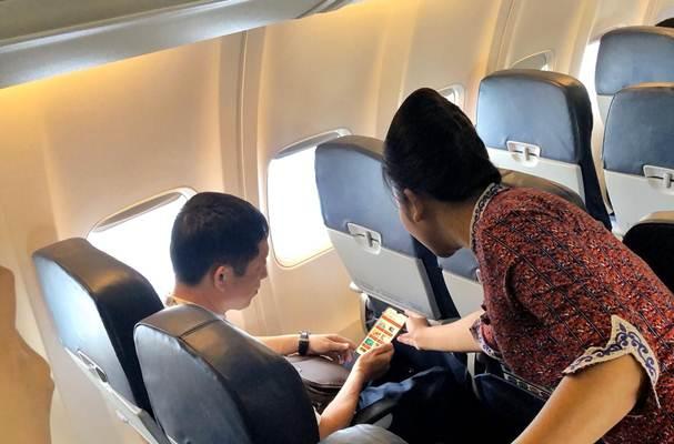 Lion Air secara resmi memperkenalkan fasilitas terbaru berupa Lion Entertainment sebagai hiburan dalam perjalanan udara (inflight entertainment) secara gratis dalam konsep wifi entertainment, Sabtu (7/12/2019). - Istimewa/Lion