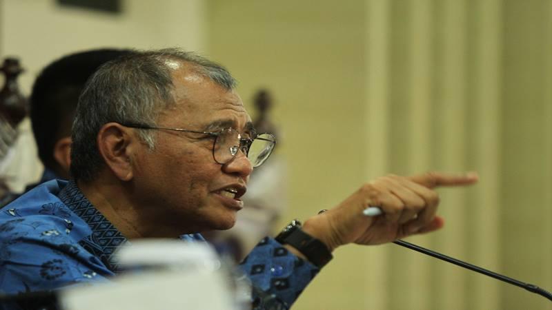 Ketua KPK Agus Rahardjo di gedung KPK, Jakarta. - Antara