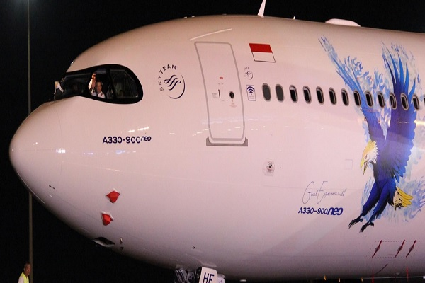 Maskapai nasional Garuda Indonesia menyambut armada A330-900neo  di Hangar 2 Garuda Indonesia Maintenance Facility AeroAsia, pada hari Rabu (27/11/2019). -  Dok. Garuda Indonesia