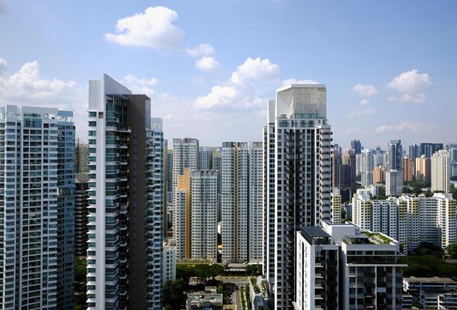 Pemandangan apartemen di Singapura. - REUTERS/Kevin Lam