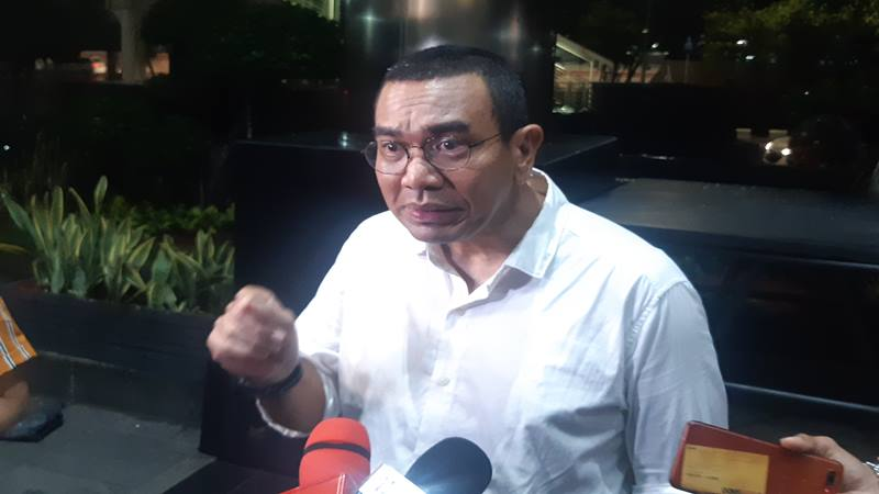 Staf Khusus Kementerian BUMN Arya Sinulingga di Gedung Komisi Pemberantasan Korupsi, Kamis (6/12/2019) malam. JIBI/Bisnis - Ilham Budiman