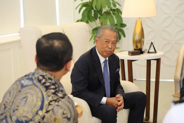 Menteri Dalam Negeri Malaysia Tan Sri Dato Haji Muhyiddin saat menemui Menteri Kelautan dan Perikanan Edhy Prabowo di kantor Kementerian Kelautan dan Perikanan (KKP), Senin (9/12/2019). - Istimewa