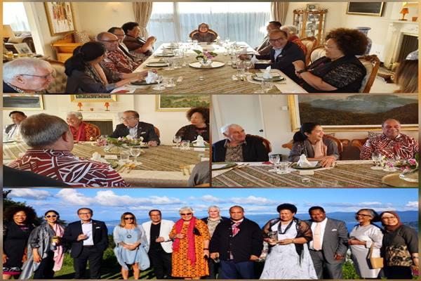Kedubes Indonesia di Selandia Baru beberapa kali mengundang suku Maori atau Iwi, dan Pasifika (sebutan untuk mereka yang berdarah Pasifik) ke Wisma Duta untuk makan siang atau makan malam. - Dok. KBRI Wellington