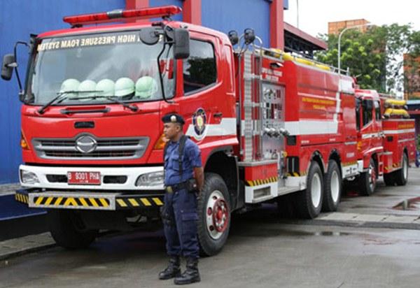 Ilustrasi. Pelayanan kebakaran termasuk dalam salah satu layanan nomor darurat 112