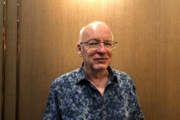 Founder dan CEO Avealto Walter Anderson ketika ditemui usai acara HAPS International Seminar di Jakarta, Rabu (2/10/2019). Avealto adalah produsen Wahana Terrestrial Langit atau High Altitude Platform Station (HAPS) yang bermarkas di Inggris. - Bisnis/Leo Dwi Jatmiko
