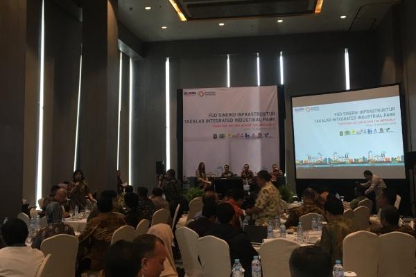 Suasana FGD Sinergi Infrastruktur TIIP di Jakarta, Jumat (13/12/2019). - Bisnis/Aprianus Doni T.