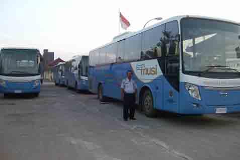 Trans Musi, salah satu transportasi umum dengan armada bus bantuan pemerintah - Ilustrasi