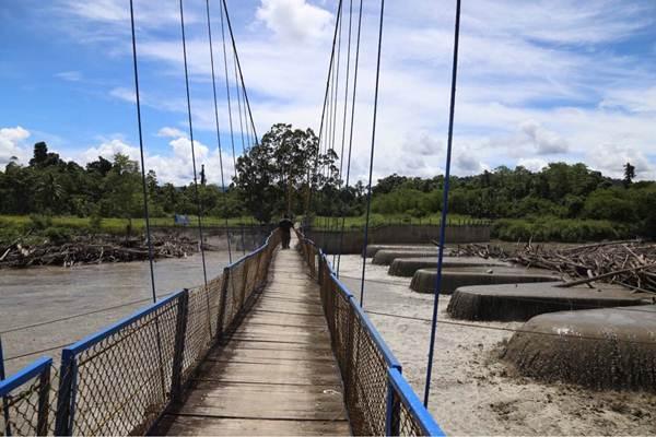 Bendung Tami di daerah Irigasi Koya, Jayapura, Papua, Selasa (14/11). - JIBI/Nurul Hidayat