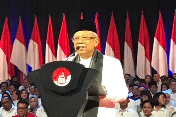 Wapres Ma'ruf Amin menyebut pemerintah menyiapkan skema kredit usaha rakyat (KUR) untuk kegiatan investasi. - Bisnis/Arif Budisusilo
