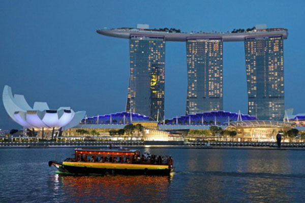 Marina Bay di Singapura. - Reuters/Lim Huey Teng