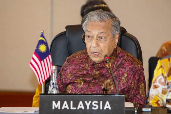 Perdana Menteri Malaysia Mahathir Mohamad mengikuti pertemuan Asean Leaders Gathering di Hotel Sofitel, Nusa Dua, Bali, Kamis (11/10/2018). - ANTARA/Afriadi Hikmal
