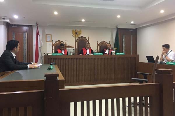 Suasana persidangan kasus kepailitan terhadap PT Bangun Cipta Kontraktor yang dilakukan oleh perusahaan konstruksi di Selandia Baru,H Infrastructure Limited (HIL), di Pengadilan Niaga pada Pengadilan Negeri Jakarta Pusat. Bisnis - Istimewa