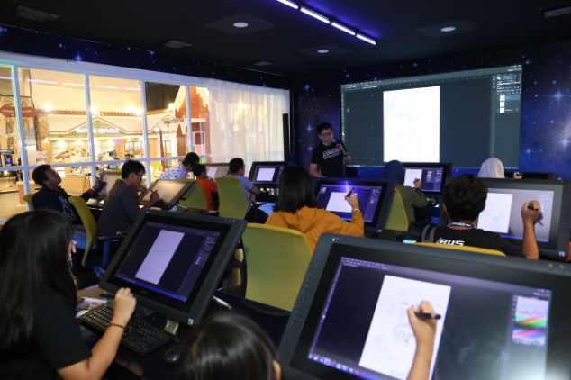 Belajar Animasi Bersama Smk Raden Umar Said Dan Ilustrator Hollywood Di Icefest 2019 Kabar24 Bisnis Com