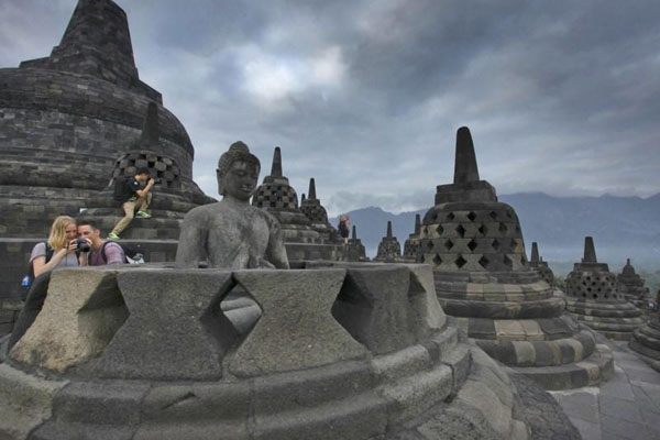 Candi Borobudur di Magelang, Jawa Tengah. - Antara/Andreas Fitri Atmoko