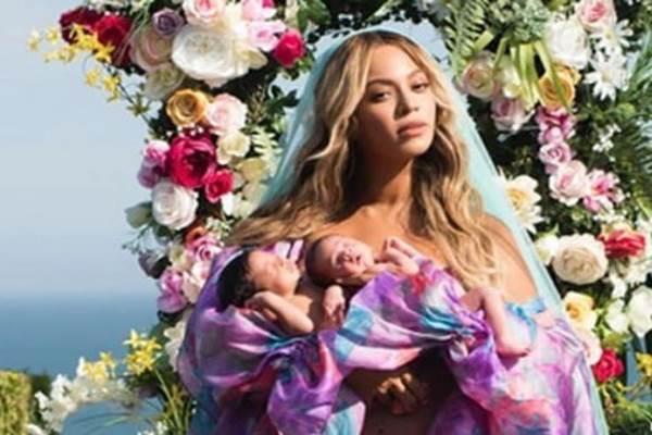 Beyonce dan anak kembarnya - Istimewa