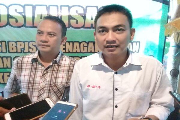 Kornas MP BPJS Hery Susanto, saat diwawancarai wartawan, Kegiatan Sosialisasi Urgensi BPJS Ketenagakerjaan bagi kalangan milenial di Bali, Sabtu (21/12/2019). - Bisnis/Busrah