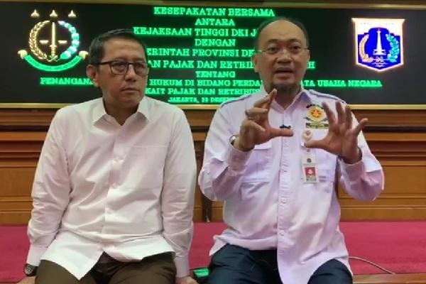 Kepala Kejati DKI Jakarta Warih Sadono dan Kepala BPRD DKI Jakarta Faisal Syafruddin - doc. humas