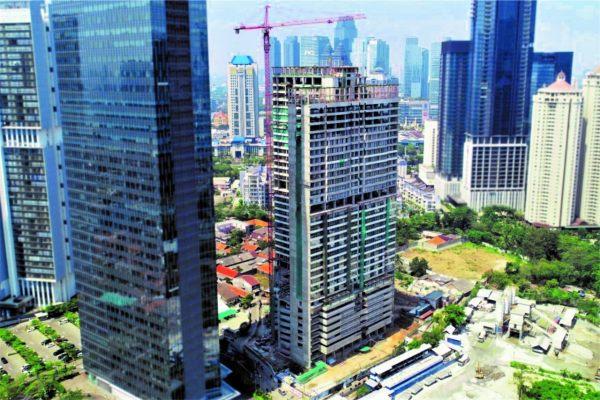 Apartemen yang dibangun Ciputra Group di kawasan pusat niaga di Jalan Satrio, Jakarta. - Bisnis