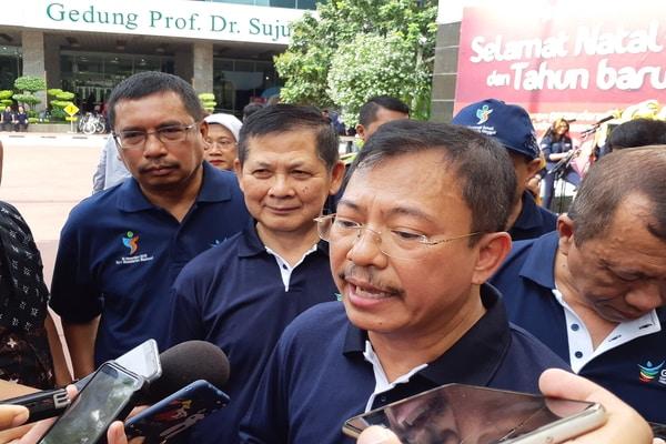 Menkes Terawan Agus Putranto di Gedung Kemenkes, Kuningan, Jakarta Selatan pada Jumat (3/1/2020) - Bisnis.com - Ria Theresia Situmorang