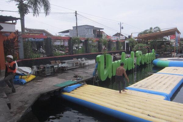 Perbaikan Umbul Ponggok, Sabtu (4/1 - 2020).