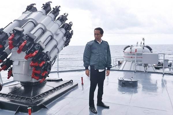 Presiden Joko Widodo menegaskan Natuna merupakan bagian dari Negara Kesatuan Republik Indonesia (NKRI). - Setpres/Krishadiyanto