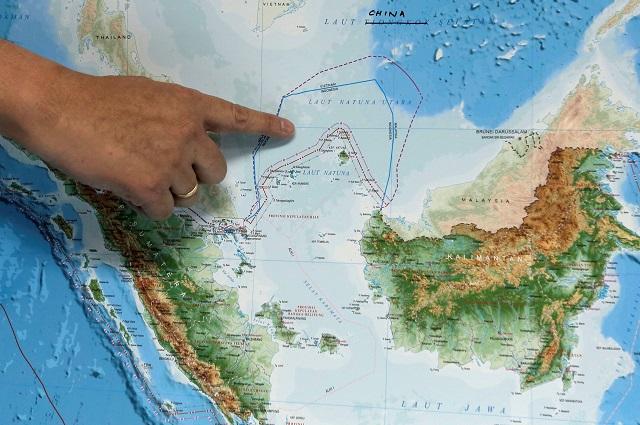 Posisi Laut Natuna Utara yang menjadi polemik antara Indonesia dengan China.  -  Reuters