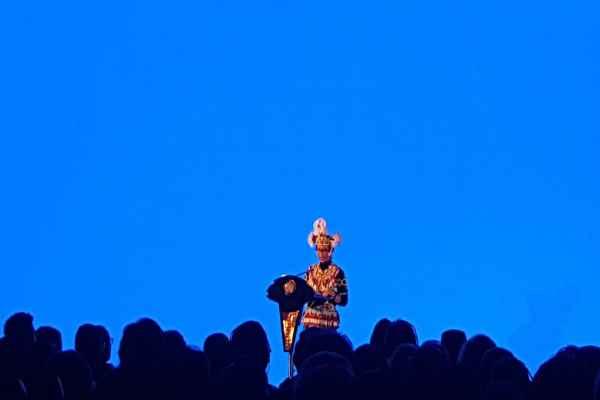 Menteri Luar Negeri Retno Marsudi menyampaikan Pernyataan Pers Tahunan Menteri Luar Negeri 2020 di Kementerian Luar Negeri, Jakarta, Rabu (8/1/2020) - Denis Riantiza M