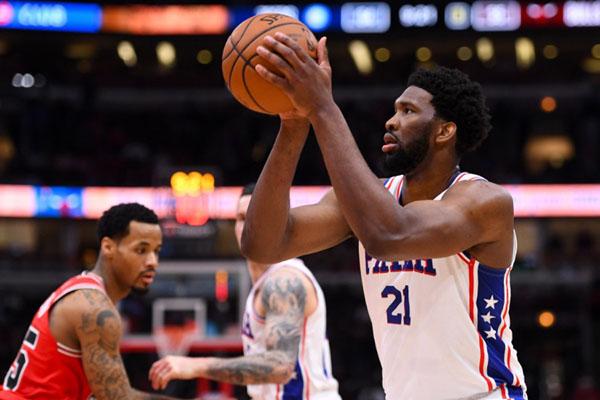Pebasket Philadelphia 76ers Joel Embiid. - Reuters